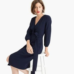 NWT J. Crew wrap dress in 365 crepe, 2P